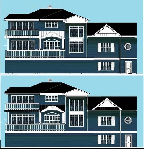 METAL ROOF - black or white for Pacific Blue house (drawing attached)