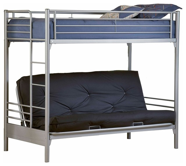 Silver Twin Over Futon Bunk Bed