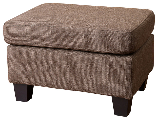 Cool Footstool Storage Cubes Fabric Storage Ottomans: Christabel Fabric Ottoman Footstool, Brown