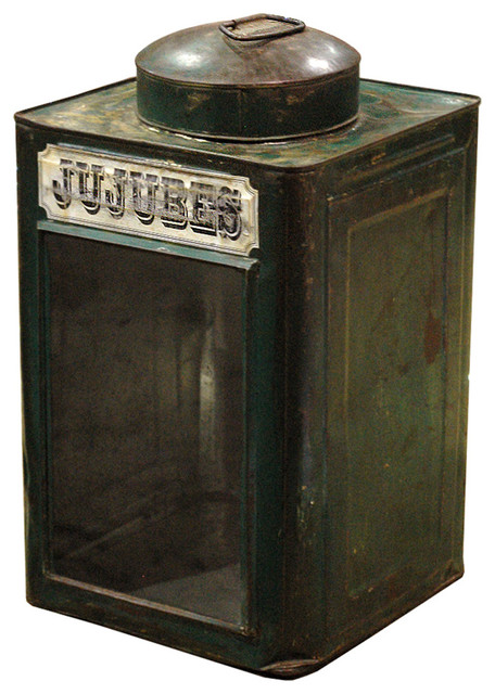 Jujubees Vintage Iron Candy Tin- Green rustic-originals-and-limited-editions