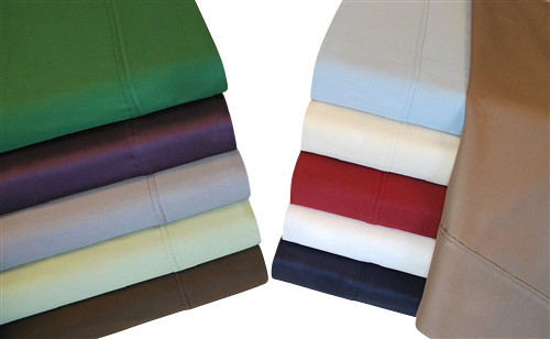 Egyptian cotton thread count solid twin xl sheet sets