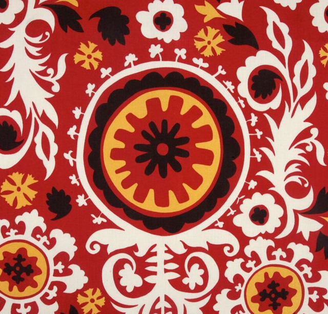 Premier Prints Indoor/Outdoor Suzani American Red eclectic outdoor fabric