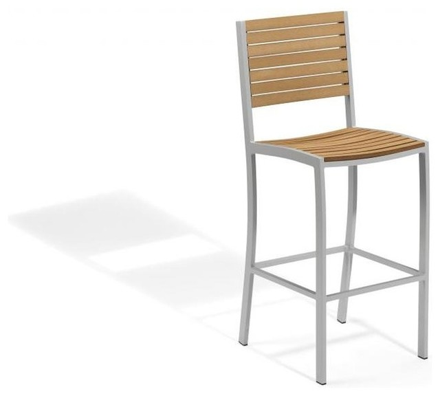 Travira Bar Chair, Tekwood Natural contemporary-outdoor-chairs