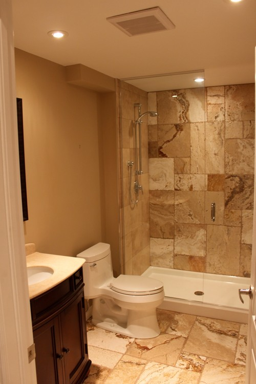 Storage ideas for 3 piece bathroom above toilet?