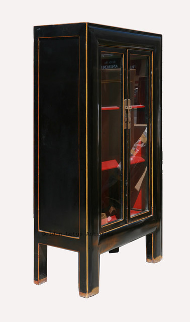 Black&Red Piano Paint Bookcase Display Cabinet - Traditional - China Cabinets And Hutches ...