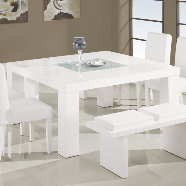 Square Dining Table In White DG020DT WH Modern Dining Tables