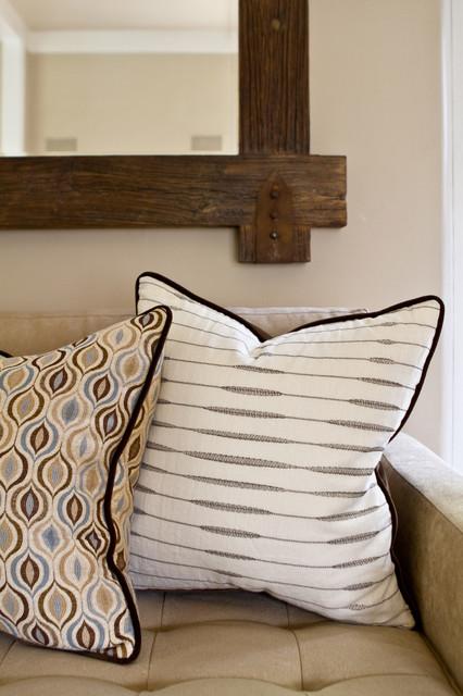 Charmean Neithart Interiors tudor revival traditional-decorative-pillows