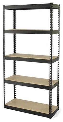 30X12X60 Blk 5 Shelf Rack Med industrial-garage-storage