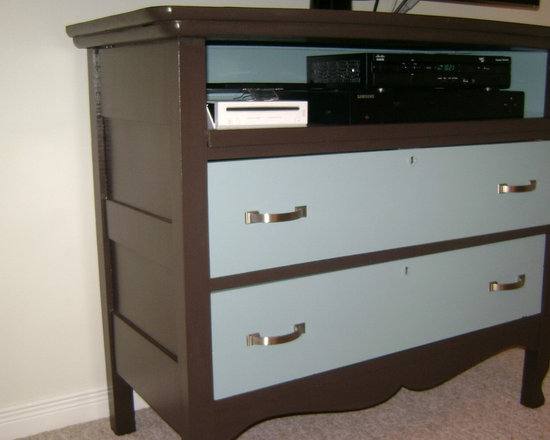 Up Cycling Furniture - Dresser turned into TV stand