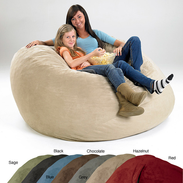 x large memory foam bean bag contemporary indoor chaise lounge chairs by. Black Bedroom Furniture Sets. Home Design Ideas