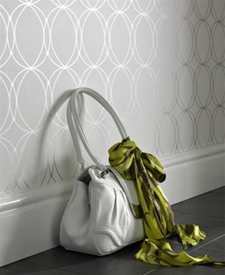What color grey paint would go with this wallpaper for my for Silver accent wallpaper