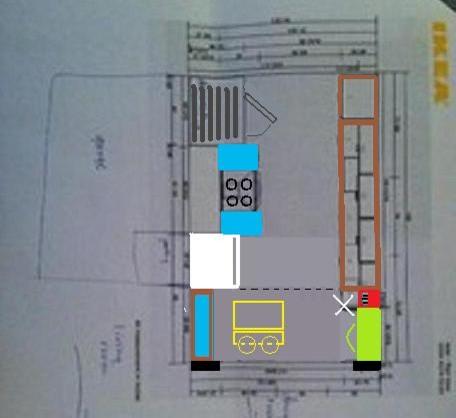Kitchen New Floor Plan 1 Island Desk And Wine Rack