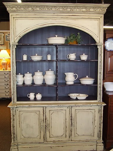 Habersham Style Arched Top China Cabinet / Bookcase - Traditional - China Cabinets And Hutches ...