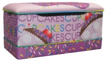 Newco Kids Cup Cake Collection Lavender Toy Box modern-baby-and-toddler-toys