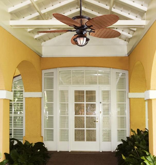 Minka Aire 52 Gauguin Tropical 4 Blade Indoor Outdoor: Minka Aire Shangri-La Outdoor Ceiling Fan With Bamboo