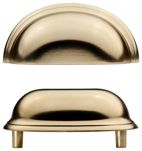 F Gleboda Handle Brass Color Traditional Cabinet And