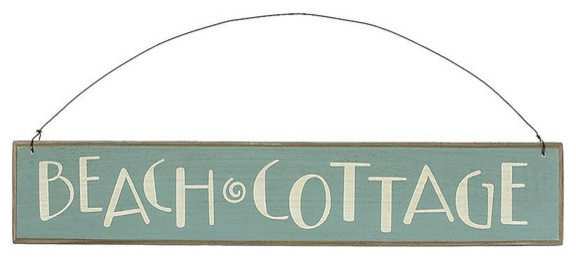 Beach Cottage Wooden Sign - contemporary - outdoor decor - by