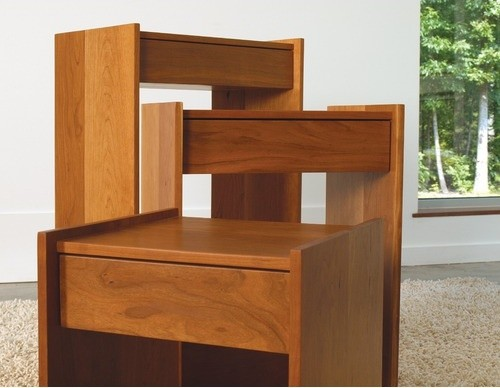 Piedmont Nesting Drawer Side Table Set of 3 modern-side-tables-and-end-tables