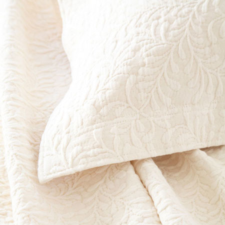 scramble matelasse coverlet (ivory) contemporary-quilts