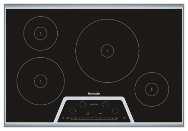 "Thermador Masterpiece 30"" Induction Cooktop, Black 