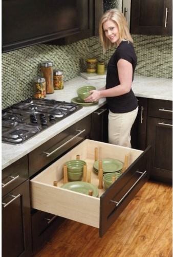 Rev-a-Shelf Drawer Peg System contemporary-cabinet-and-drawer-organizers