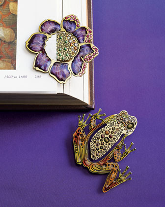 Jay Strongwater Luke Frog Book Clip traditional-books