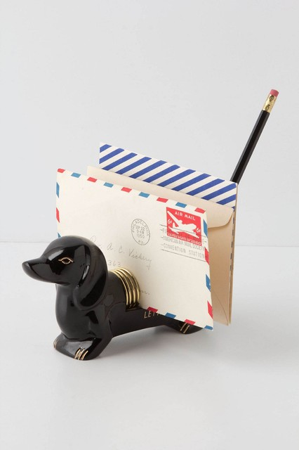 Dachshund Letter Holder eclectic desk accessories