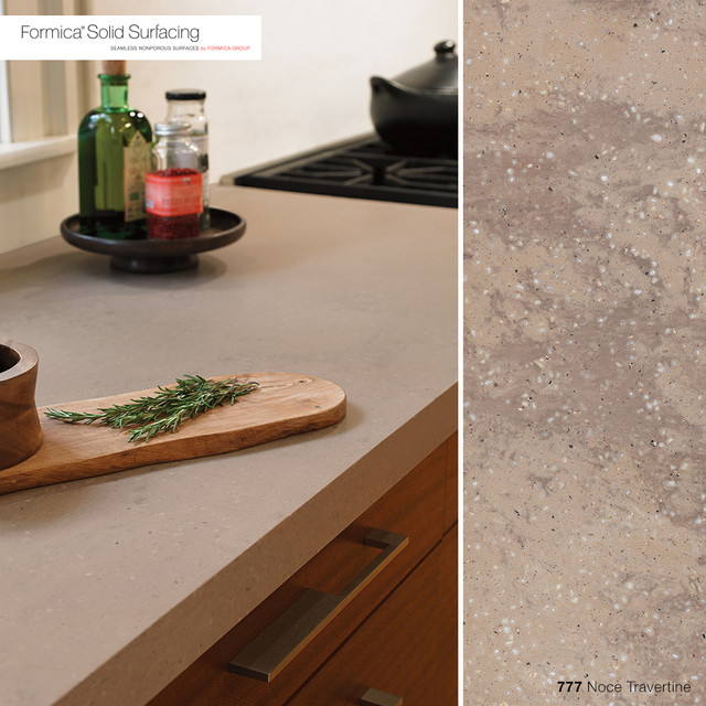 777 Noce Travertine Formica® Solid Surfacing traditional-kitchen