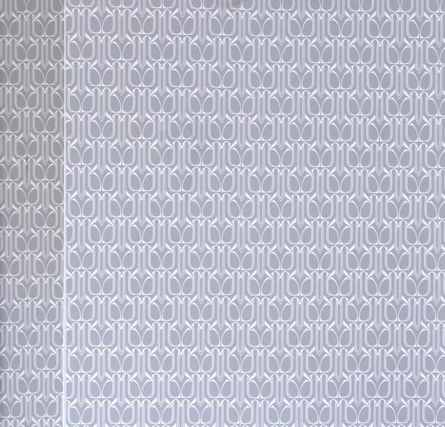 Gio removable wallpaper silver contemporary wallpaper for Metallic removable wallpaper