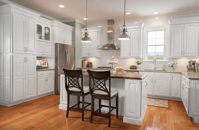 Grove arch painted linen eclectic kitchen cabinetry for Arch kitchen cabinets