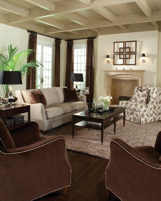 Living room scenes transitional-sofas