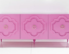 Marrakech Credenza, Gloss Pink eclectic buffets and sideboards