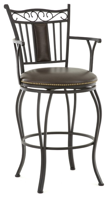 Berkshire Jumbo Metal Swivel Stool with Arms  : contemporary bar stools and counter stools from www.houzz.com size 348 x 640 jpeg 38kB