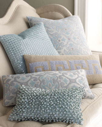 Dransfield & Ross Beauford Bed Linens 26 x 12 Greek Key Pillow traditional-decorative-pillows
