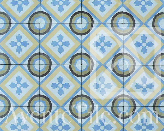 "Traditional Romana Cement Tile 8"" x 8"" -"