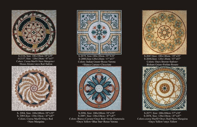 Marble Mosaic Rugs and Medallions contemporary-entry