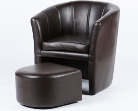 Tub chair amp ottoman traditional armchairs and accent chairs by
