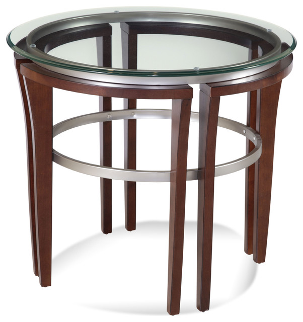 Contemporary Side Table : Fusion Round End Table - Contemporary - Side Tables And End Tables ...