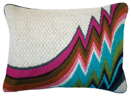 embroidery pillows, embroidered cushion, bargello, bargello embroidery, modern embroidery, embroidery pattern, embroidery designs, embroidery ideas, needlework, needlepoint