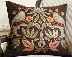 Aleta Embroidered Pillow Cover traditional-pillows