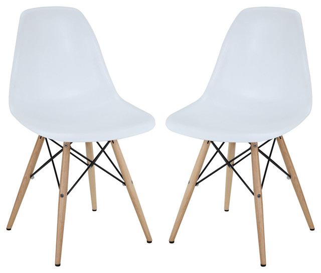 Molded Plastic Dowel Leg Dining Side Chairs Set of 2  : living room chairs from houzz.com size 640 x 544 jpeg 44kB