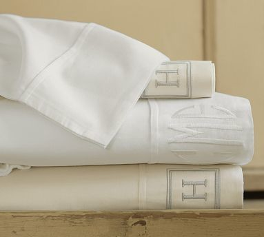 PB Essential 300-Thread-Count Sheet Set, King, White traditional-sheet-and-pillowcase-sets