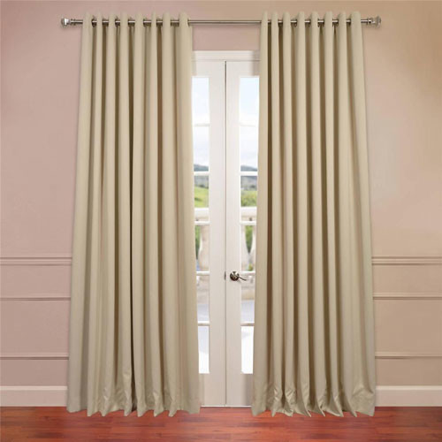 stone 120 x 100 inch double wide grommet blackout curtain