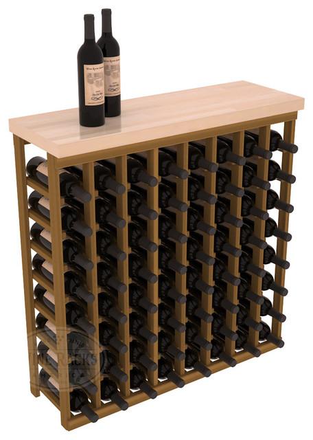 Tasting Table Wine Rack Kit + Butcher Block Top in Redwood with Oak Stain contemporary-wine-racks