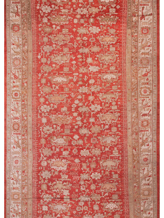 "Antique Turkish Oushak Carpets - #21185 Turkish Oushak 10'0"" x 18'8"""