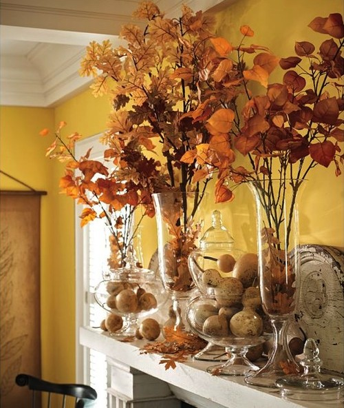 Fall Decorating Ideas - A large foliage arrangement
