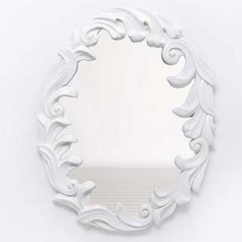 White Lacquer Rococo Mirror contemporary-wall-mirrors