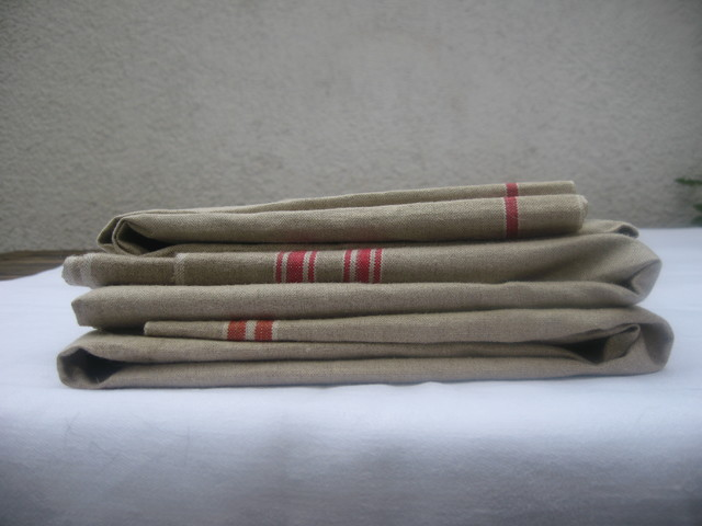 Antique European Linen Table Cloth - tablecloths - portland - by