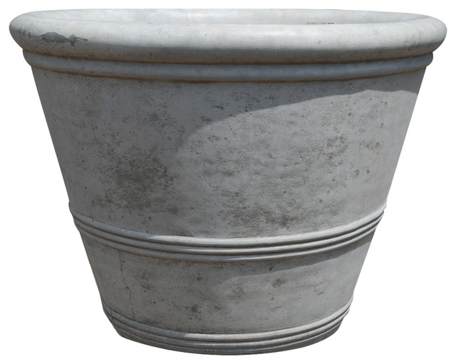 Concrete Three Ring Planter modern-outdoor-pots-and-planters