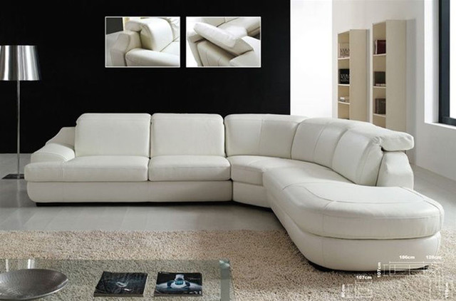 Advanced Adjustable Italian Leather Living Room Furniture Modern Sectiona